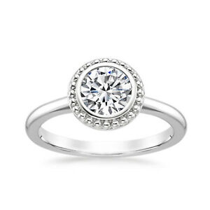 1-00-Ct-Round-Cut-Diamond-14K-Solid-White-Gold-Wedding-Engagement-Rings-Size-J-P