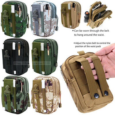 Tactical Molle Pouch Handbag Belt Waist Backpack Military Sports School Bag Pack