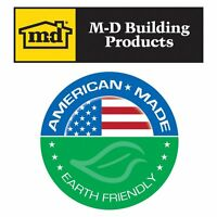 M-d Building Products 3822 Vinyl Garage Door Top And Sides Seal, 30 Feet, White on sale