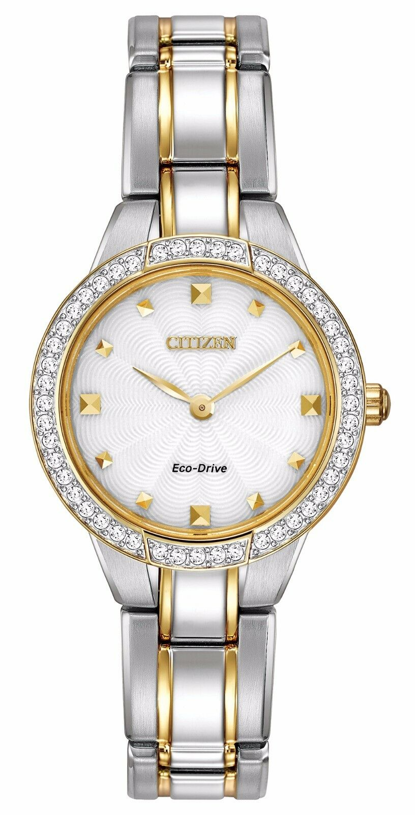 Cross border:-Citizen Eco-Drive Women's EX1364-59A Crystal Accents Two-Tone Bracelet Watch low price