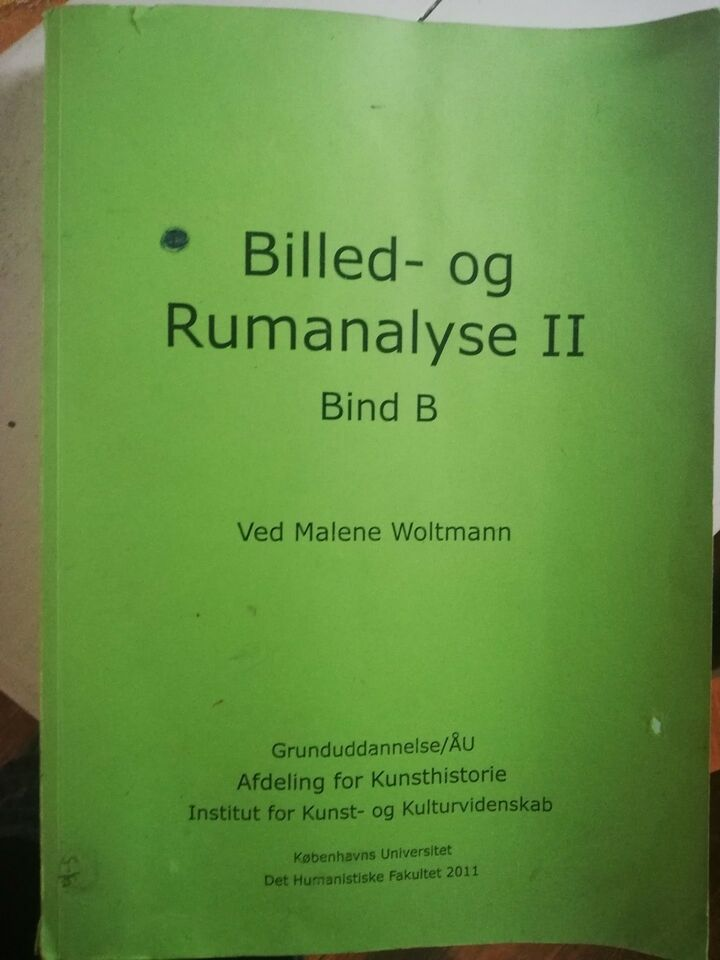 Kompendium Billed- og rumanalyse II Bind B, Institut for