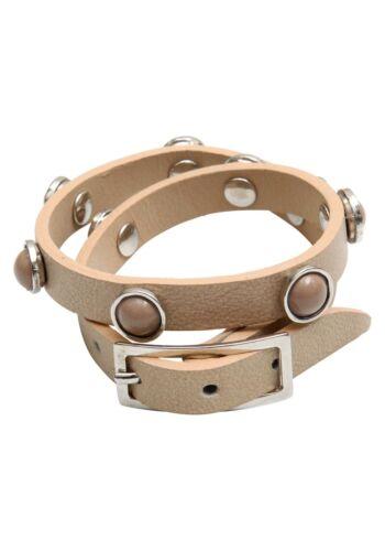 Made in Italy NEU!! Beige Leder-Armband SHEEGO KP 24,99 € /%SALE/%