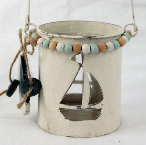 Windlicht Metall und Glas maritime Dekoration Variante Boot