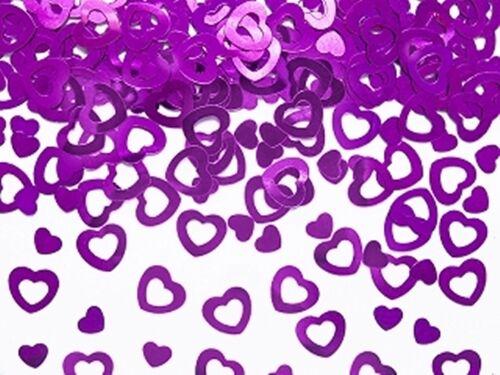 gold Streudeko Herzen Hochzeit Taufe Geburt Liebe Dekoration Konfetti rot pink