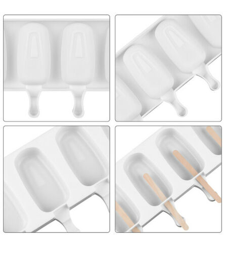 Frozen Ice Cream DIY Pop Mold Popsicle Maker Lolly Mould Silicone Summer 2021 UK