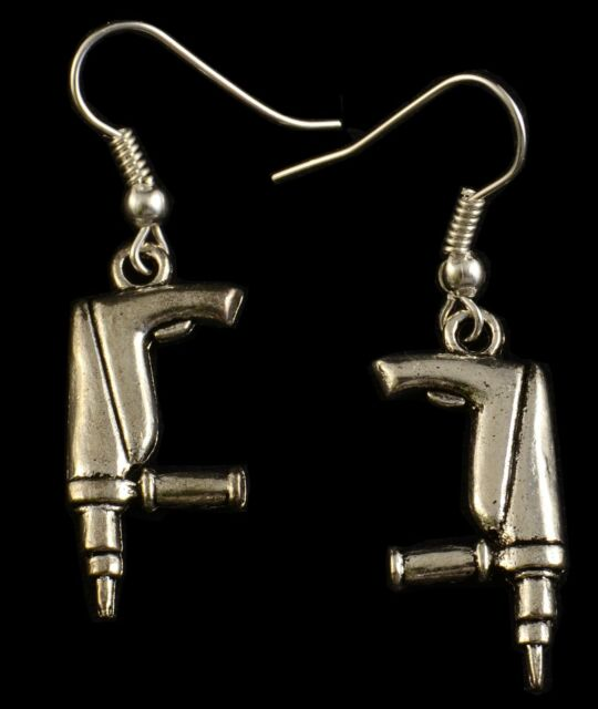 "Hand Made ""Drill""Earrings HCE170"