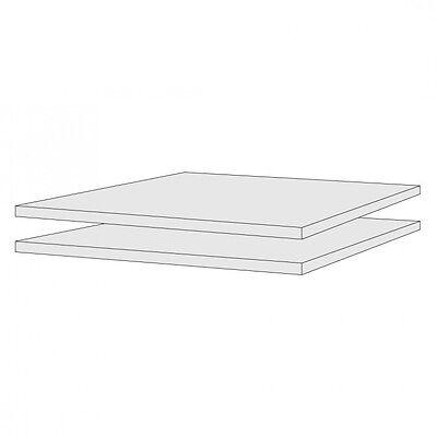 Schrank Kiefer massiv Weiß ODETTE 2er Set Einlegeböden 2 Stück Einlegeboden f