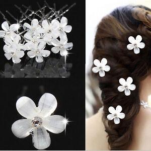 20x Fashion Wedding Bridal Pearl Flower Crystal Hairpin Hair Clips Bridesmaid