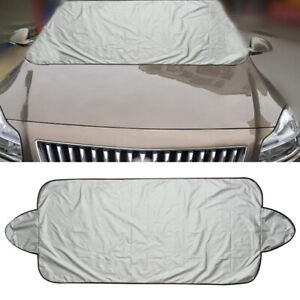 Car Auto Folding Windshield Cover Snow Ice Frost Protector Sun Shield Silver