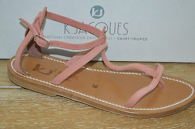 NIB K. JACQUES Womens PANDA Camelia (Pink) Suede Strappy Sandals Size 9 EUR 39
