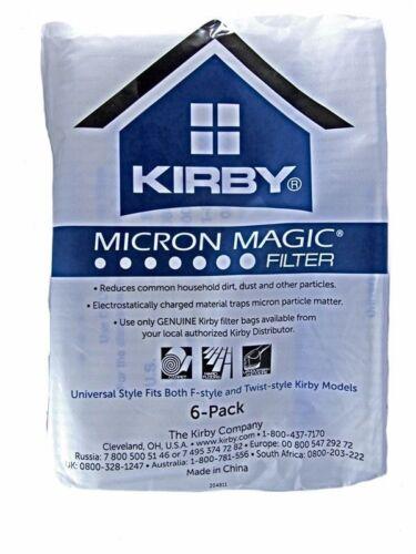 6 Sacchetti Kirby originali Micron Magic Hepa Filtration G3 G4 G5 G6 G7 G8 G10