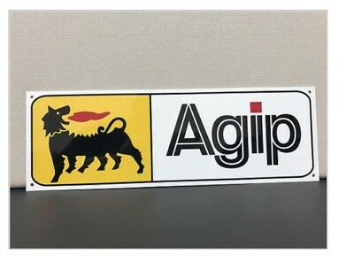 Agip Oil Gas Lamborghini Ferrari Italian World Racing Oils Mancave Garage Sign Collectibles Signs