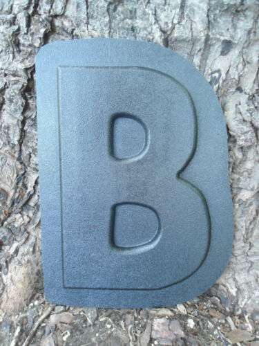 """Letter B plastic mold 12/""""H x just under 1//2/"""" thick"""
