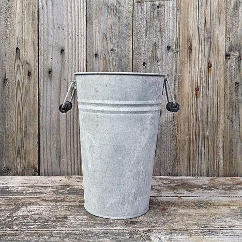 Zinc With Handles IN 2 Sizes Old Zinc Pot Flower Pot Planter Pots