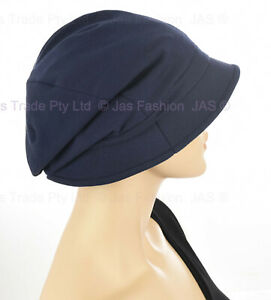 3a3006992 Details about GENTLE SOFT Cotton Retro Bucket Cloche Chemo Hair Loss Head  Cover Sun Hat Visor