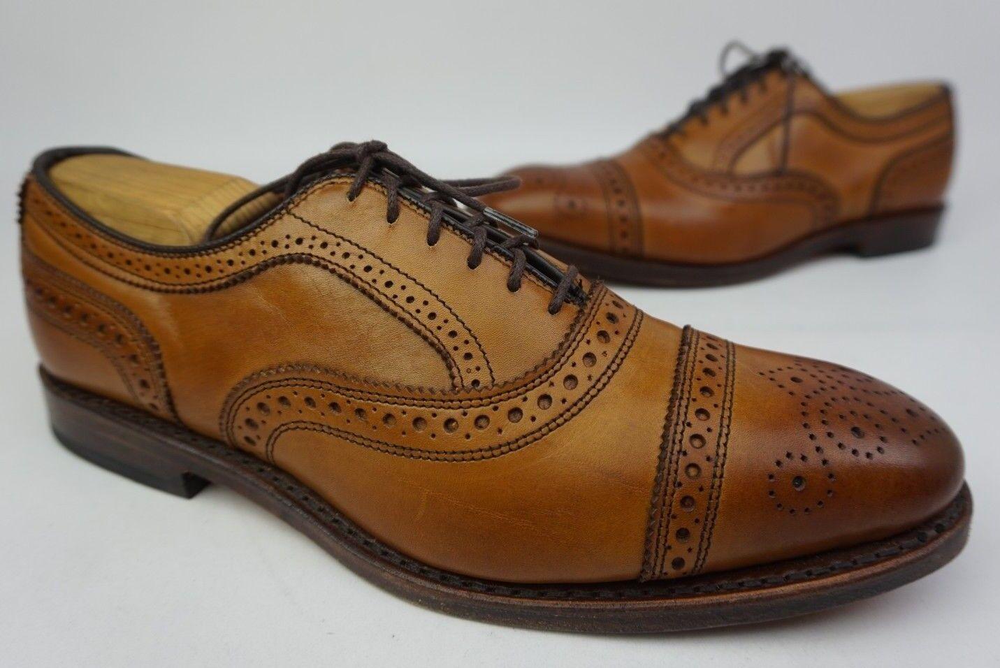 Allen Edmonds Strand Cap Toe Oxford braun Leather schuhe Größe 7.5 E