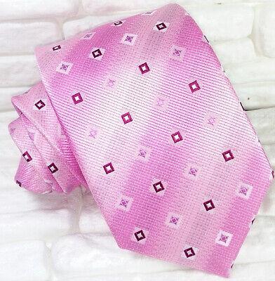 Cravatta Rosa Su Rosa Jacquard Seta Made In Italy Matrimoni Business Rp € 39 Per Migliorare La Circolazione Sanguigna