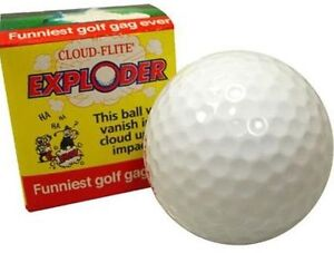 Exploding Golf Ball Explodes Into Cloud Smoke Funny