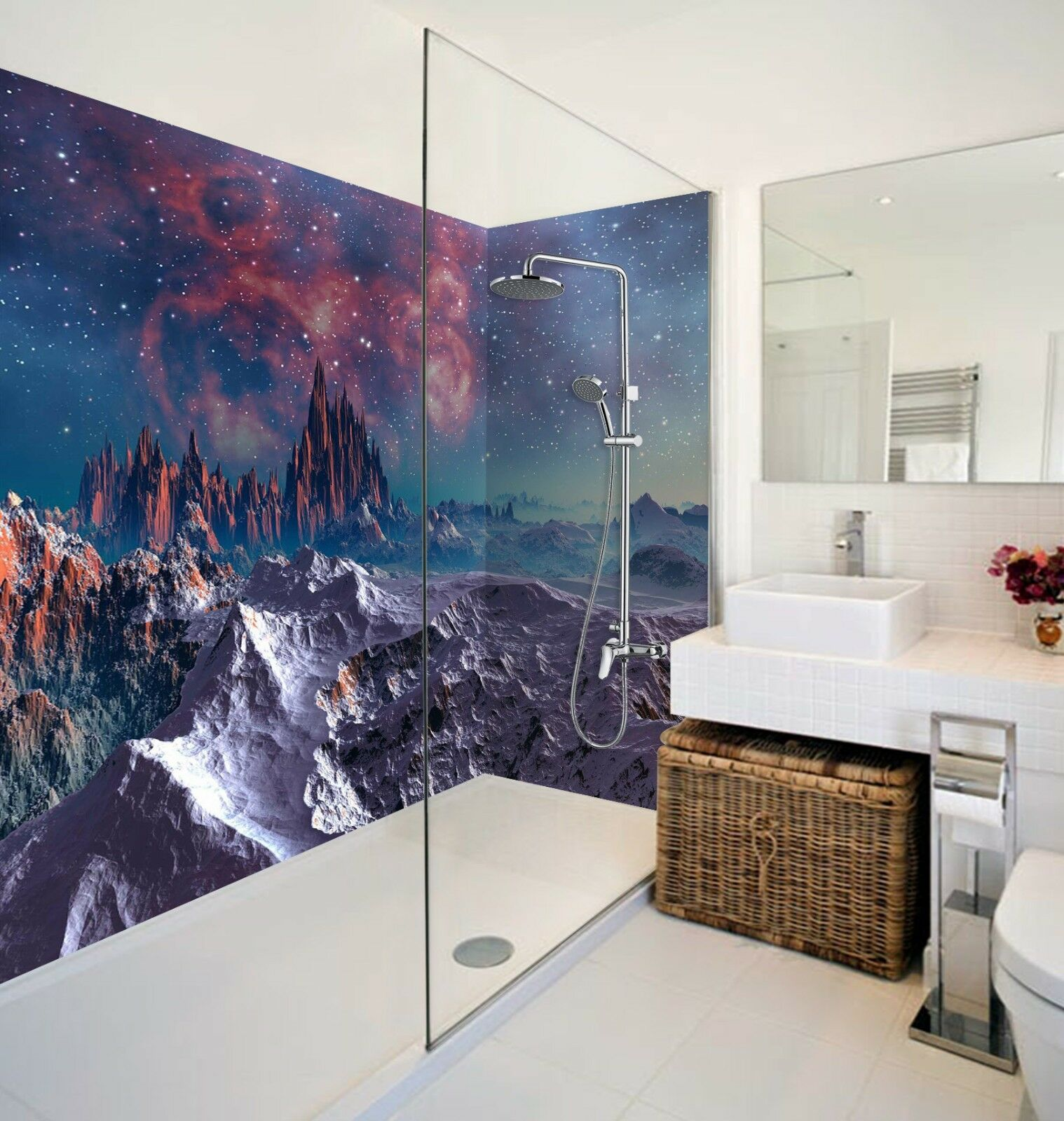 3D Starry sky hill 507 WallPaper Bathroom Print Decal Wall Deco AJ WALLPAPER UK