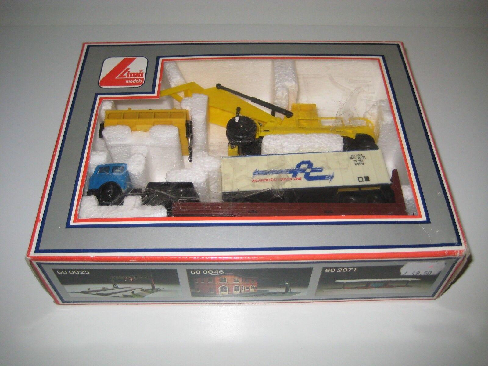 Lima H0 60 0990 - Set de grúa, contenedor, camión y argentoforma