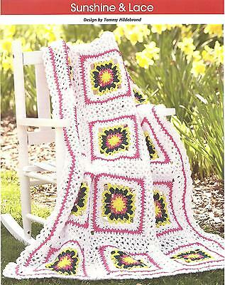 *Sunshine & Lace Afghan crochet PATTERN INSTRUCTIONS