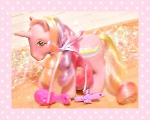 ❤️My Little Pony MLP G1 Vtg 1985 Rainbow Curl Ponies Streaky Rainbow Rider❤️