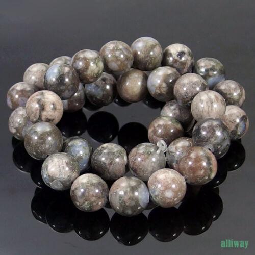 "Llanite Natural Gemstone redonda con cuentas de 15.5/"" 4mm 6mm 8mm 10mm 12mm Jewelry hágalo usted mismo"