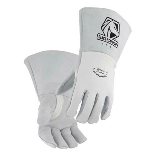 Black Stallion 750 Premium Grain Elkskin Stick Welding Gloves Small