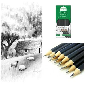 12-Sketching-Artist-Pencils-For-Drawing-Kids-Learn-Graded-Pencil-6B-6H-Sketch