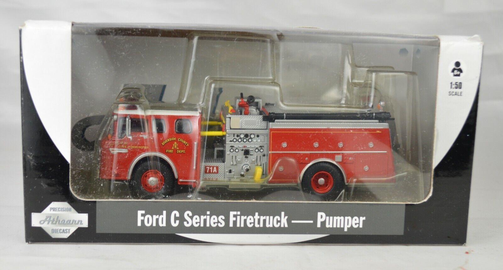 Athearn 1 50 Escala (6 1 1 1 2  largo)  90887 Ford C Series Pumper camión de bomberos Caja Como Nuevo 532fab