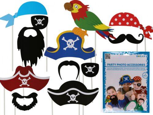 Piratenparty Foto Verkleidung auf Stick Piraten Party Geburtstag Fete Set 102588