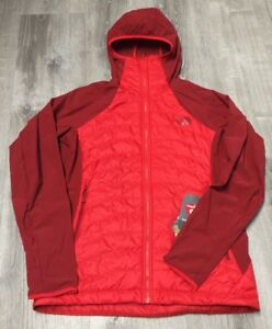 454691904 Details about WOMENS MEDIUM HIGH RISK RED THE NORTH FACE PUFFER JACKET  199.99