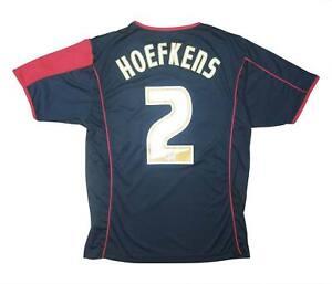 Stoke-City-2005-06-Authentic-AWAY-SHIRT-hoefkens-2-eccellente-S-Soccer-Jersey