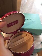 Tiffany Pink Leather jewelry Box