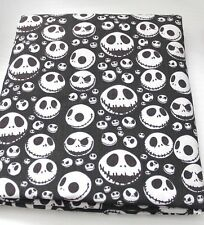 Nightmare Before Christmas Jack Skellington Tessuto in Policotone Nero Fat Quarter