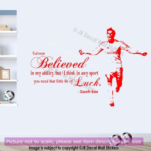 Gareth Bale Wales Footballer Quote Removable WALL STICKER Sports Decal Wall Art