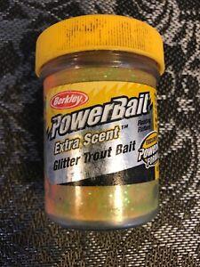 Berkley-Powerbait-Glitter-Trout-Bait-1-75-Oz-Jar-Bass-Fishing-Lure-Bait