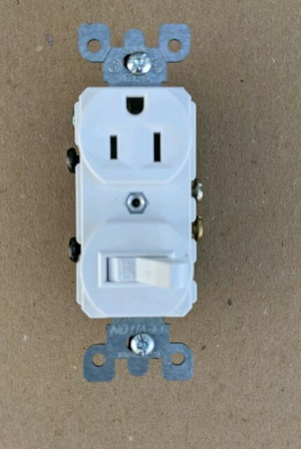 Leviton 5225-WSP Combo Switch and Receptacle White 52250WS