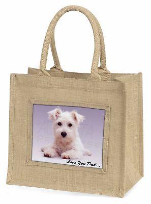 westhochland Hund' liebe Dich Papa 'Große natürliche jute-einkaufstasche Chr ,