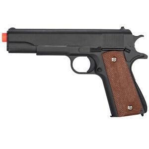 Uk Arms 1911 Airsoft Gun Metal Black Spring Pistol G13 Zinc Alloy M1911 Bbs 874876000132 Ebay