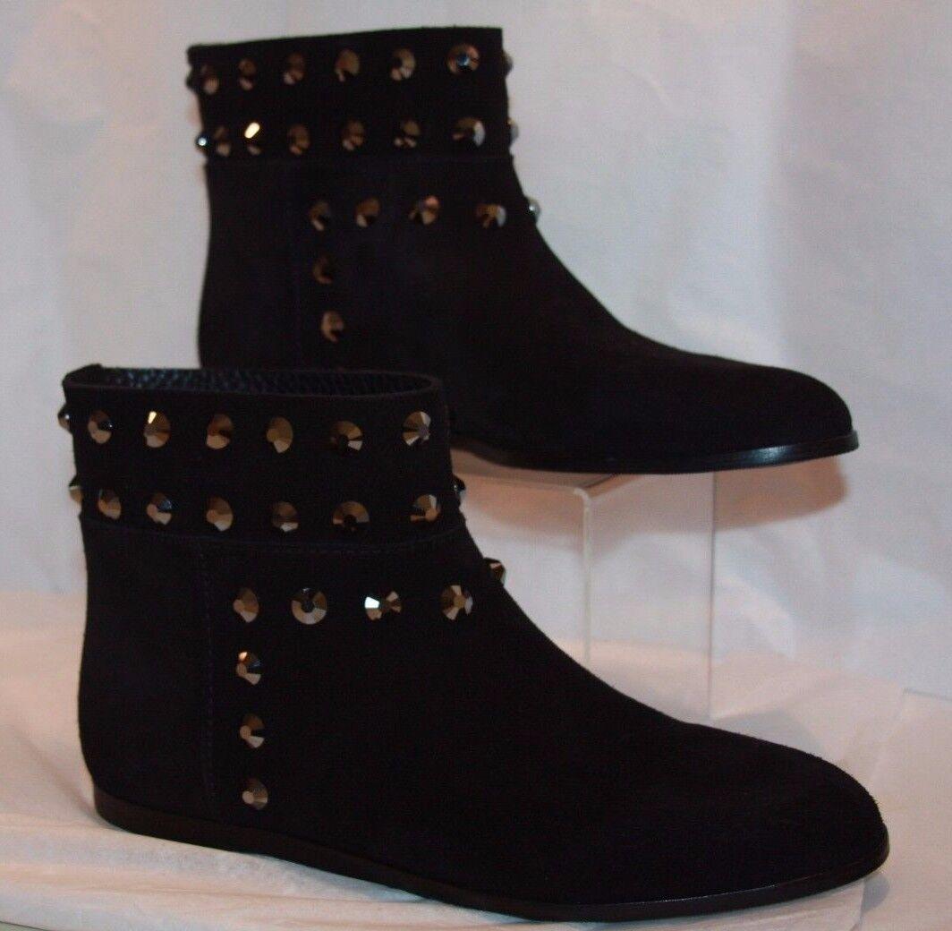 Pedro Garcia Yentl black suede booties women's size 9.5  m