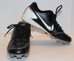 4943529ab50 Nike Baseball Black Leather Keystone Men s Cleats Shoes Size 11 FREE ...