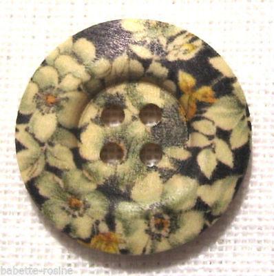 BOUTON BOIS ** 30 mm // 3 cm ** Fleurs 30//162 de 2 à 6 boutons Qté au choix