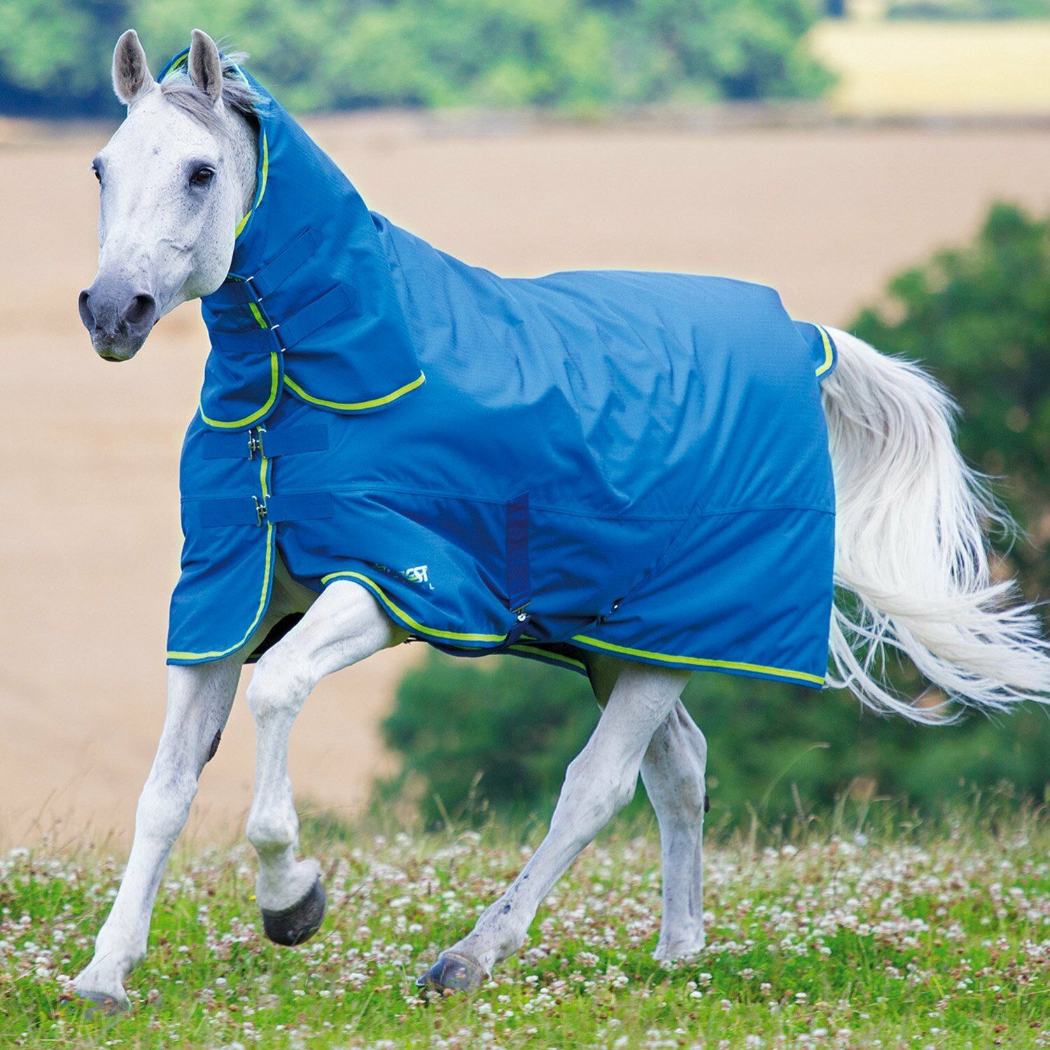 Shires Tempest Original 100g Combo Unisex Horse Rug Turnout - Royal Lime
