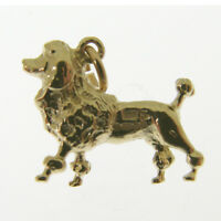 Gold Poodle Dog Charm. Hallmarked 9 Carat Gold Poodle Dog Charm Or Pendant