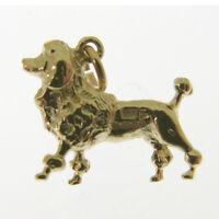 Gold Poodle Dog Charm. Hallmarked 9 Carat Gold Poodle Dog Charm Or Pendant