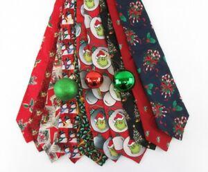 christmas ties holiday neck tie greetings holiday t91 120 ebay