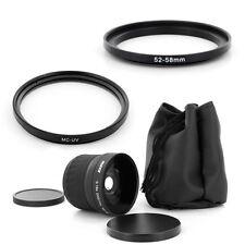52mm Parasol Cap UV Filtro Panasonic Para DMC FZ100 FZ40 FZ45 G2 G10