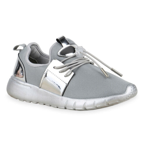 Damen Sportschuhe Metallic Lack Runners Sneakers Laufschuhe 813825 Schuhe
