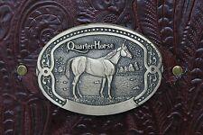 Tony Lama Quarter Horse Buckl Burgundy Western Cowhide Leather 2 3 Ring Binder